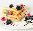 Crepes with berries