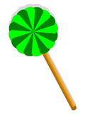 Green sweet lollipop