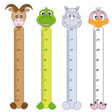 Bumper children meter wall. Wildlife Stickers