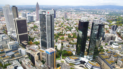 Panorama of Frankfurt am Main, Germany.