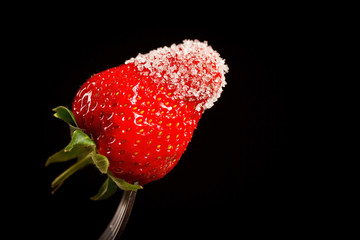 strawberries in sugar