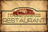 Retroplakat - Italienisches Restaurant