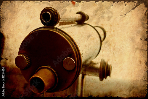 Foto op Plexiglas Vintage Poster Retroplakat - Fernrohr