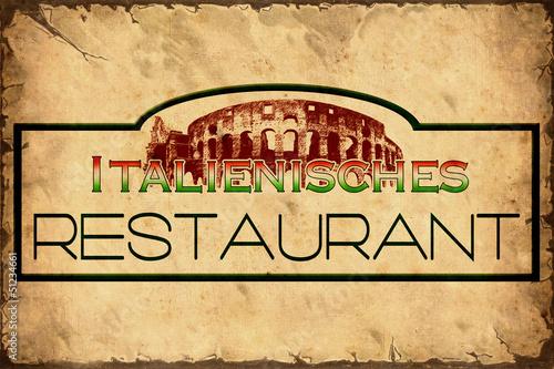 In de dag Vintage Poster Retroplakat - Italienisches Restaurant