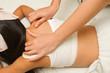 children massage with mother hand