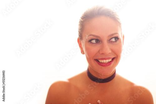 junge hüsche Frau