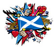 Scotland flag scottish graffiti pop street art illustration