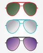 Set of retro sunglasses