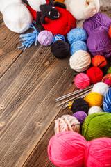 Frame of knitting yarn
