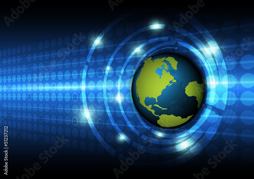 global technology concept background