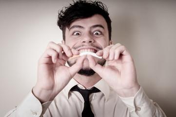 businessman stop smoking