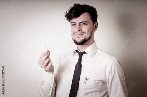businessman stop smoking