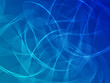 Abstract blue background with ribbons