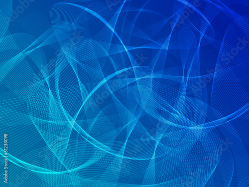 Deurstickers Abstract wave Abstract blue background with ribbons