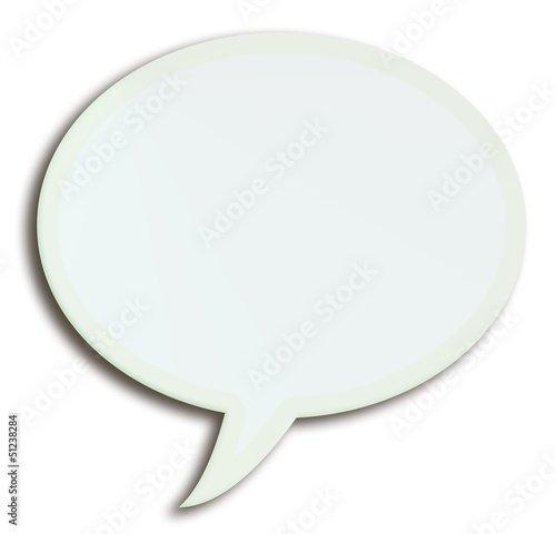 white speech bubble - 3d illustration