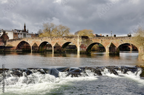 Devorgilla Bridge and River Nith in Dumfries