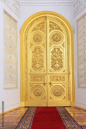Great Kremlin Palace, doors in Georgievsky hall