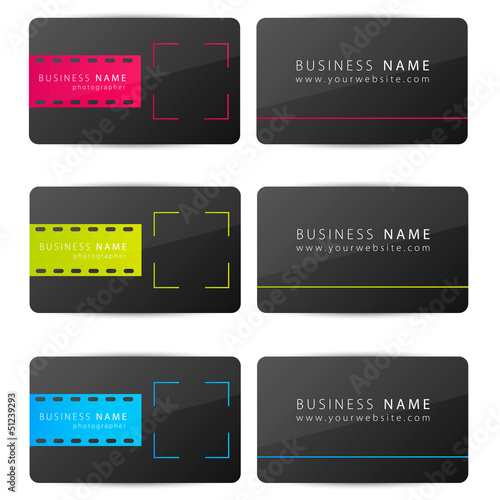 Photographers business card
