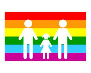drapeau famille gay