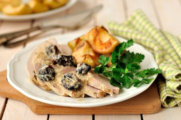 Creamy Prune and Pork Pot Roast with Apples