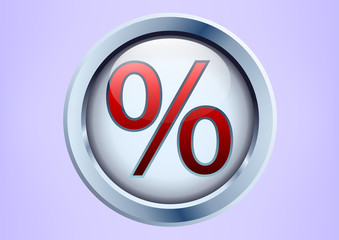 button with a percent sign