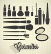 Vector Set: Vintage Cosmetics Silhouettes