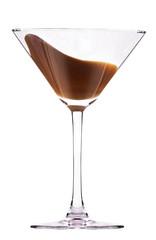 chocolate cocktail with splash