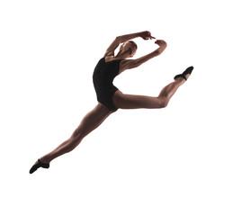 young modern ballet dancer jumping