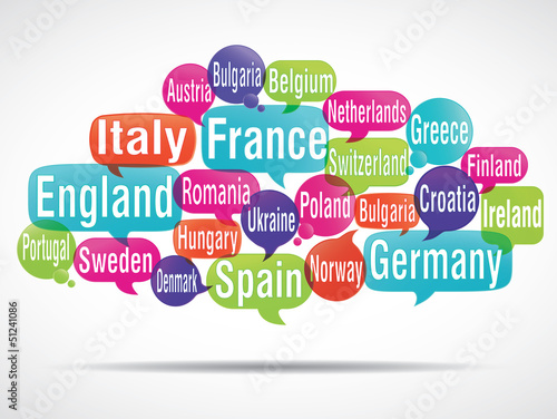 tag cloud : european countries