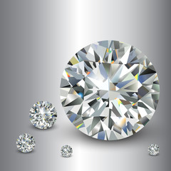 Luxury background with diamonds