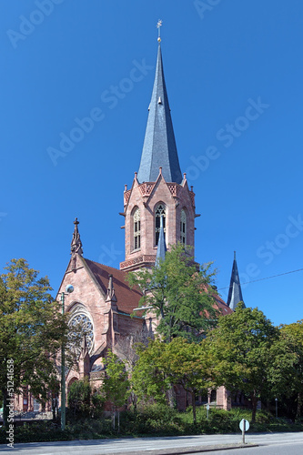 The Christ Church in Karlsruhe, Germany