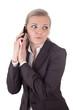 Geschäftsfrau wird gestört bei Telefonat
