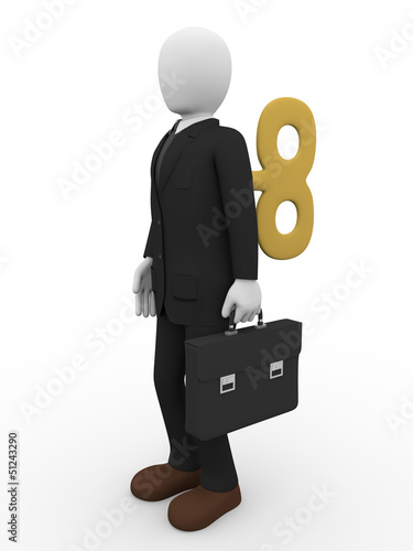 businessman key