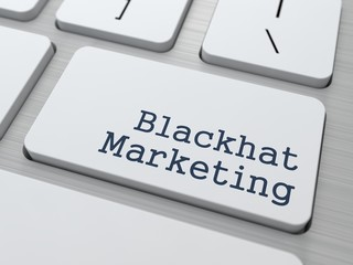 Blackhat Marketing  Concept.