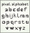 Pixel Alphabet, Lower Case letters