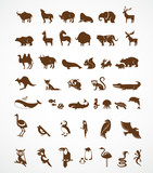 Fototapety vector collection of animal icons