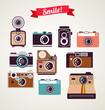 old vintage camera set