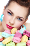 Girl with macaroons