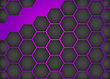 Purple honeycomb background