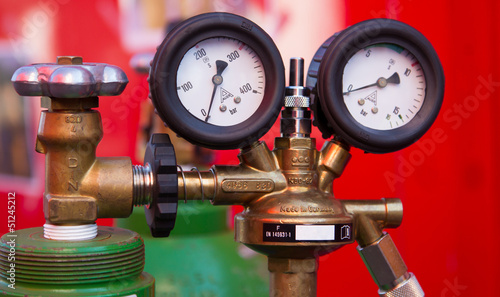 Two Gas Pressure Gauge