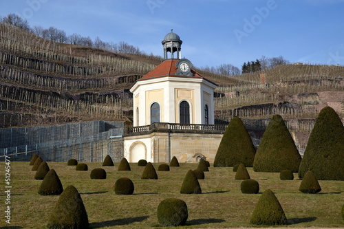canvas print picture Schloss Wackerbarth, Belvedere