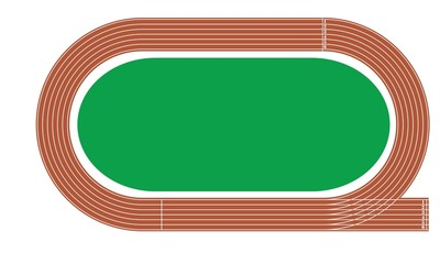 running track with green