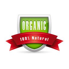 Organic icon, 100% Natural