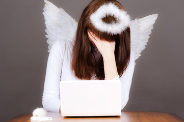 angel tired of working in the heavens