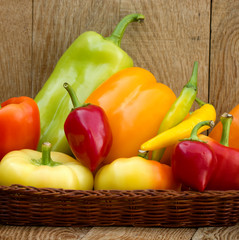 Multicolored peppers