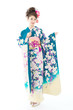 Beautiful Asian Kimono Woman O...
