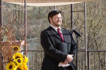 Smiling Bearded Rabbi