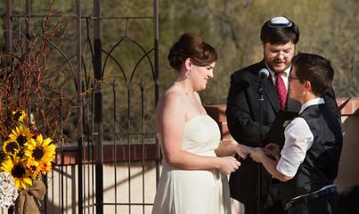 Happy Couple in Civil Union
