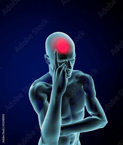 Uomo raggi x dolore mal di testa