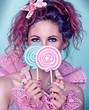 Mädchen mit Lollis / candy 04_1